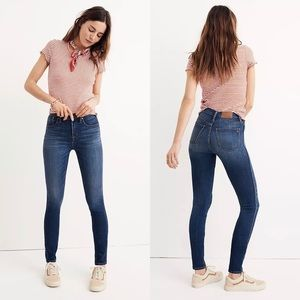 """Madewell 10"""" High-Rise Skinny Jeans in Danny Wash size 24"""